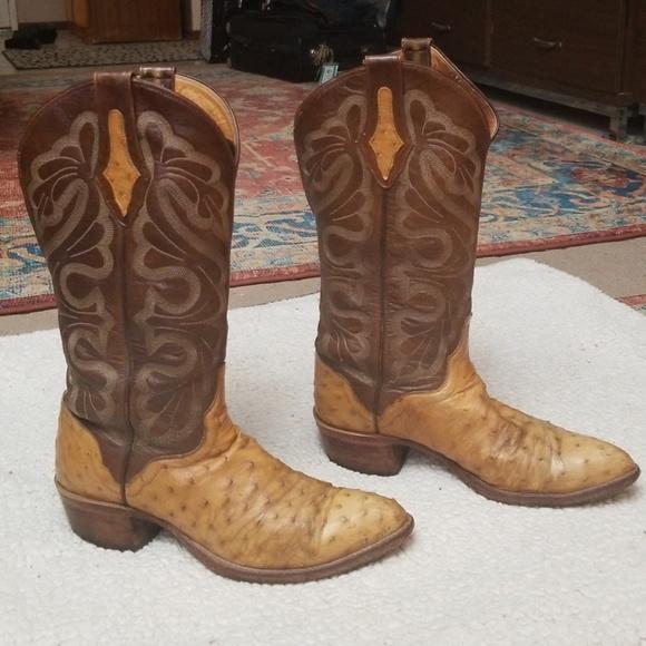 Mens El Dorado Ostrich Cowboy Boot